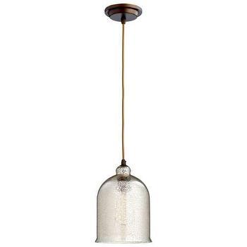 Lighting - Cyan Design Celia 1 Light Pendant I Homeclick - silver glass pendant light, silver glass mini pendant, silver glass cloche pendant,