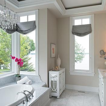Chandelier Over Tub, Transitional, bathroom, Studio M Interiors