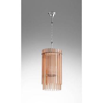 Lighting - Cyan Design Swizzle 4 Light Chandelier I Homeclick - pink glass rod chandelier, pink glass chandelier, modern pink chandelier, blush pink chandelier, pink and chrome chandelier,