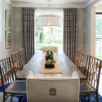 Faux Bamboo Dining Chairs, Transitional, kitchen, Studio M Interiors