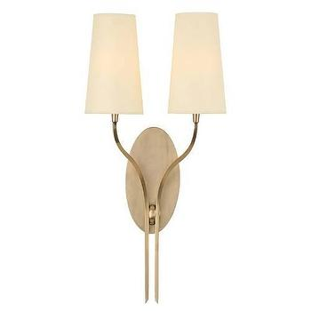 Lighting - Hudson Valley Lighting Rutland 2 Light Wall Sconce I Homeclick - aged brass 2 light sconce, aged brass sconce, oval aged brass sconce,