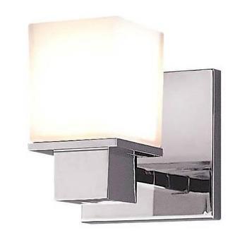 Lighting - Hudson Valley Lighting Milford 1 Light Bathroom Vanity I Homeclick - square polished chrome sconce, modern polished chrome sconce, polished chrome bathroom sconce,