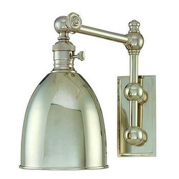 Lighting - Hudson Valley Lighting Monroe 1 Light Wall Sconce I Homeclick - polished nickel wall sconce, polished nickel 1 light sconce, adjustable polished nickel sconce,