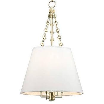Lighting - Hudson Valley Lighting Burdett 4 Light Pendant I Homeclick - brass drum pendant, brass tapered lantern, tapered drum pendant,