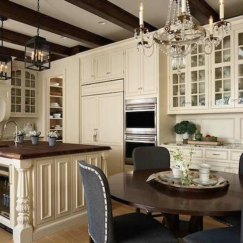 Cream Kitchen Cabinets, Transitional, kitchen, Murphy & Co. Design