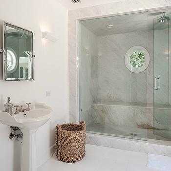 Walk In Shower Design, Transitional, bathroom, HAR