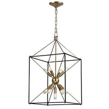 Lighting - Hudson Valley Lighting Glendale 30 H 9 Light Pendant I Homeclick - sputnik lantern pendant, industrial lantern pendant, open cage lantern pendant,