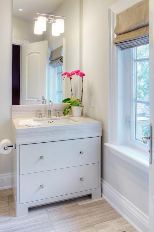 bathroom  Benjamin Moore Edgecomb Gray  Braams Custom Cabinets