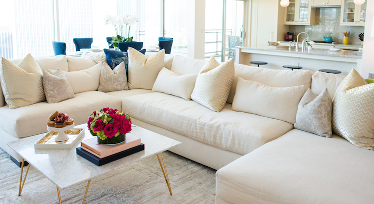 Armless Sectional Contemporary Living Room Shannon