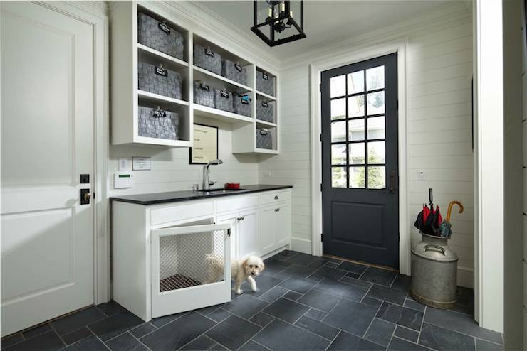Built In Dog Bed Transitional Laundry Room Murphy