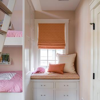 Kids Reading Nook, Transitional, girl's room, Liz Levin Interiors