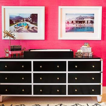 Black and White Dresser, Contemporary, nursery, Shannon Wollack