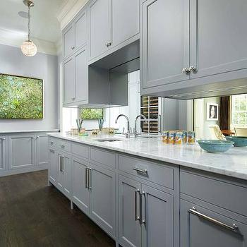 Gray Shaker Cabinets, Transitional, kitchen, Murphy & Co. Design