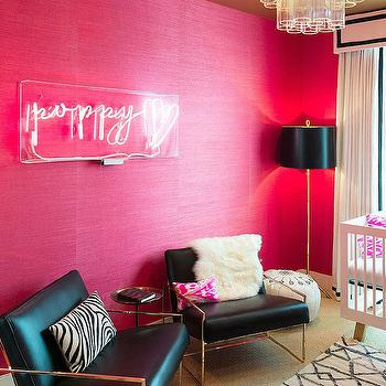 Pink Grasscloth, Contemporary, nursery, Shannon Wollack