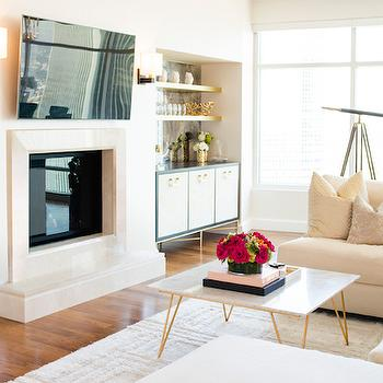 Living Bar Ideas, Contemporary, living room, Shannon Wollack