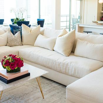 Armless Sectional, Contemporary, living room, Shannon Wollack