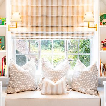 Kids Window Seat Ideas, Transitional, girl's room, Shannon Wollack