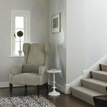 Faux Bois Chair, Transitional, entrance/foyer, Liz Levin Interiors