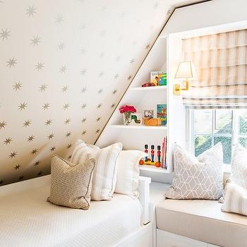 Attic Kids Room, Transitional, girl's room, Shannon Wollack