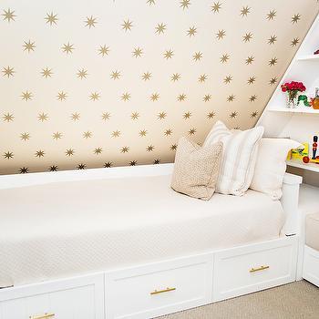 Coronata Star Wallpaper, Transitional, girl's room, Shannon Wollack