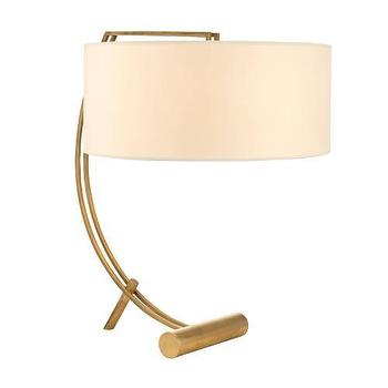 Lighting - Hudson Valley Lighting Deyo 2 Light Table Lamp I Homeclick - mid century brass lamp, mid century aged brass lamp, sculptural brass table lamp, brass lamp,