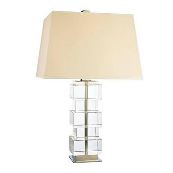high street market crystal block table lamp. Black Bedroom Furniture Sets. Home Design Ideas