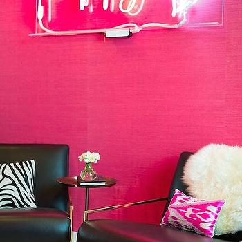 Pink Grasscloth Wallpaper, Contemporary, nursery, Shannon Wollack