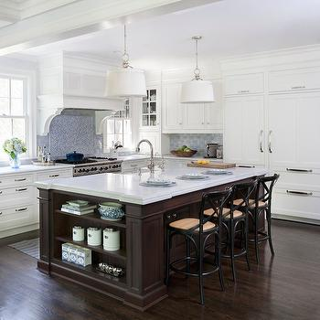 Blue Subway Tiles, Transitional, kitchen, Benjamin Moore Marilyn Dress, Dearborn Cabinetry