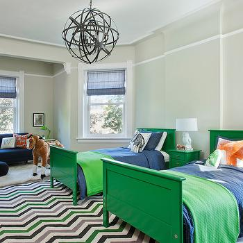 Green and Blue Kids Rooms, Contemporary, boy's room, Space Architects & Planners