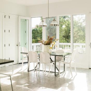 Black Lacquer Dining Table, Transitional, dining room, Liz Levin Interiors