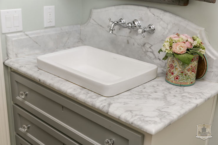 Shallow Vessel Sink Cottage Bathroom Stonecroft Homes