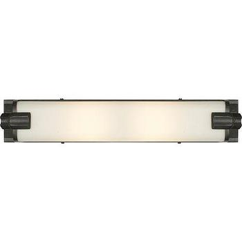 Lighting - Visual Comfort Thomas O Brien Corless Bath Light I Homeclick - bronze and white glass vanity light, tubular bronze vanity light, bronze and white glass wall sconce, industrial bronze wall sconce,