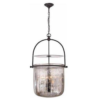 Lighting - Visual Comfort Lorford Smoke Bell Lantern I Homeclick - smoked glass bell lantern, smoke glass bell lantern, aged glass bell jar pendant, antiqued glass bell jar lantern,