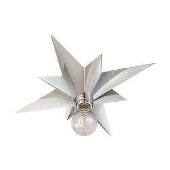 Lighting - Visual Comfort Studio Star 1 Light Flush Mount I Homeclick - star shaped flush mount, polished nickel star flushmount, silver star flushmount,