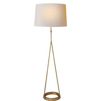 Lighting - Visual Comfort Studio Dauphine 1 Light Floor Lamp I Homeclick - gilded iron floor lamp, transitional brass floor lamp, contemporary gold floor lamp,