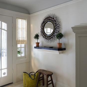 Porcupine Mirror, Eclectic, entrance/foyer, Benjamin Moore Albescent, Angela Free Interior Design