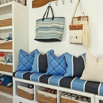 Cottage Mudroom Ideas, Cottage, laundry room, Barclay Butera