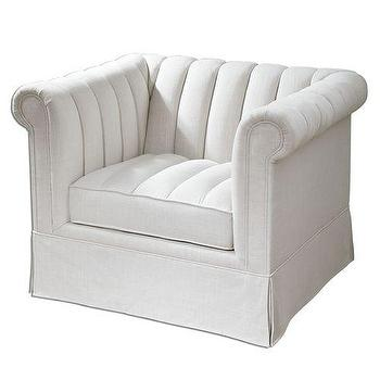 Uttermost Evania Tufted Armchair in White I Homeclick