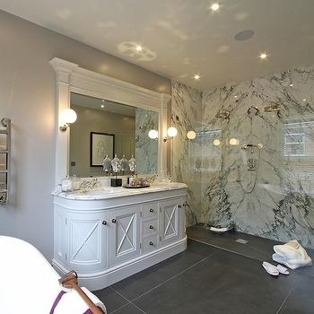 Curved Sink Vanity, Transitional, bathroom, Hayburn and Co