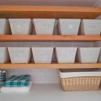 The Container Store Open Canvas Bins, Transitional, laundry room, Reath Design