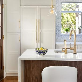 Schoolhouse Electric Satellite Light, Contemporary, kitchen, Benjamin Moore Snowfall, Design Manifest