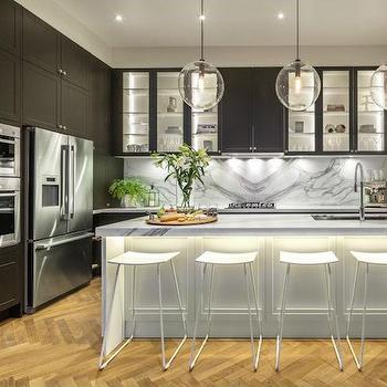 Black Shaker Cabinets, Contemporary, kitchen, The Block Glasshouse