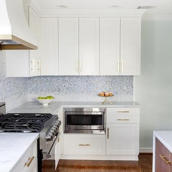 Blue Mosaic Tiles, Contemporary, kitchen, Sherwin Williams Dewy, Design Manifest