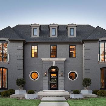 Gray Stone Home Exterior, Transitional, home exterior, D Magazine