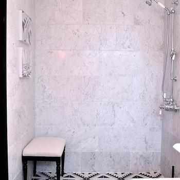 Bianco Gioia Marble, Eclectic, bathroom, Christine Dovey