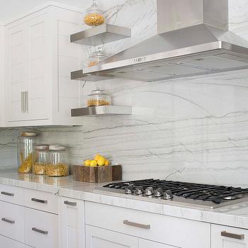 White Quartzite Countertops, Transitional, kitchen, Milton Development