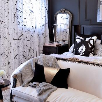 Black and White Bedrooms, Eclectic, bedroom, Christine Dovey