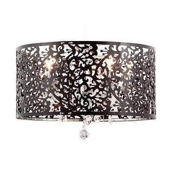 Zuo Nebula 5 Light Ceiling Lamp in Black I Homeclick