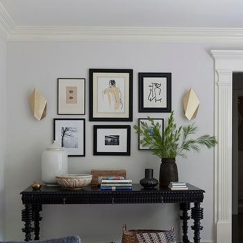 Gold Sconces, Transitional, entrance/foyer, Disc Interiors