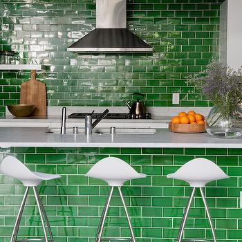 Green Subway Tiles, Contemporary, bathroom, Disc Interiors